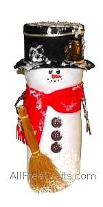 Recycled Coffee Creamer Container Snowman