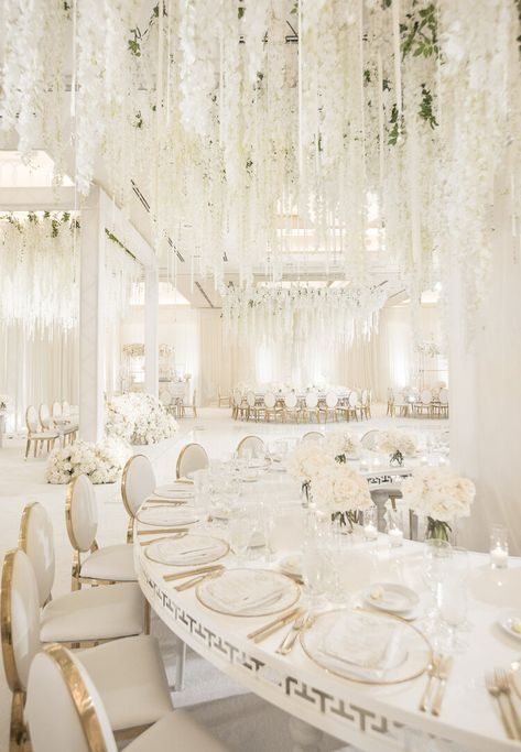 Wedding Room Decorations, Wedding Centerpieces, Wedding Table, Wedding Ideas, Wedding Reception Decorations Elegant, White Party Decorations, White Wedding Receptions, Wedding Planning, Elegant Centerpieces