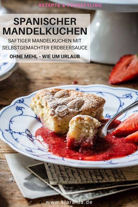 Spanischer Mandelkuchen - Mit Erdbeeren - Klara  Ida