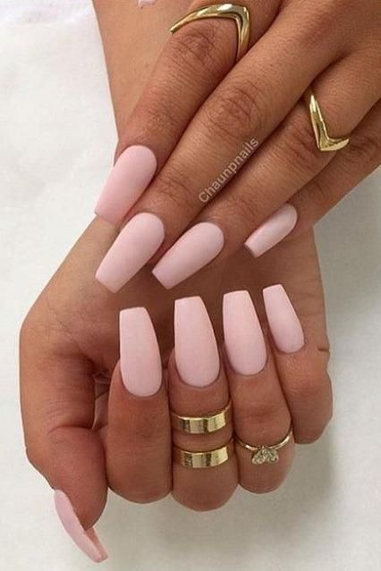 30 Manicure Ideas That Will Make You Mad For Matte Light Pink Acrylic Nails Pink Acrylic Nails Matte Pink Nails