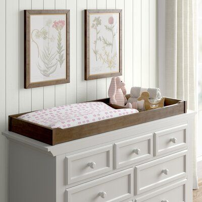 Birch Lane Crampton Changing Table Topper Wood In Almond Size 3 H X 3 W X 50 D Wayfair In 2021 Changing Table Topper Baby Changing Tables Changing Table Dresser Dresser with changing table top