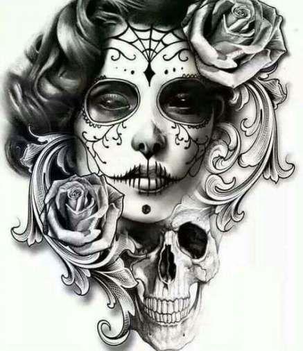 36 Trendy Tattoo Ideas Female Skull Dia De Skull Girl Tattoo Body Art Tattoos Tattoos