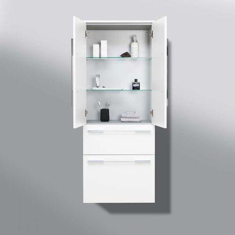 Designbaeder Com In 2020 Bad Hochschrank Badezimmer Einrichtung Hochschrank
