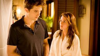 At the wedding ceremony itself, Edward springs Jacob on Bella as a wedding ceremony in attendance.