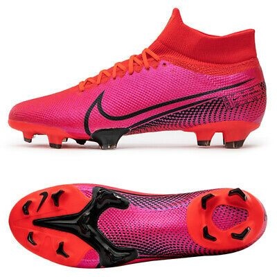 Nike Mercurial Superfly 7 Pro Fg Football Shoes Soccer Cleats Red At5382 606 Ebay In 2020 Football Shoes Soccer Cleats Nike Nike Football Boots