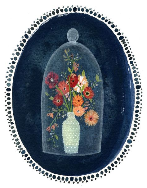 becca stadtlander illustration: behind glass