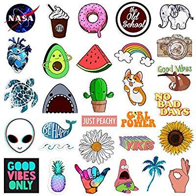Amazon Com Stickers For Water Bottles Big 30 Pack Cute