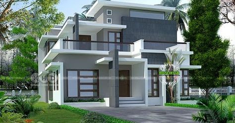 2238 Sq Ft Modern Contemporary House In Kerala In 2020 Kerala
