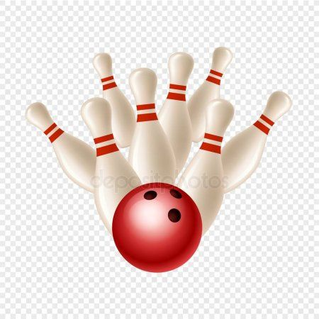 Vector Bowling Strike Skittles And Ball Isolated On Transparent Background Skittles Bowling Transparent Background