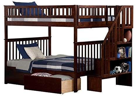 Atlantic Furniture Woodland Bed Sponsored Ad Furniture Atlantic Bed Atlantic Furniture Staircase Bunk Bed Bunk Beds