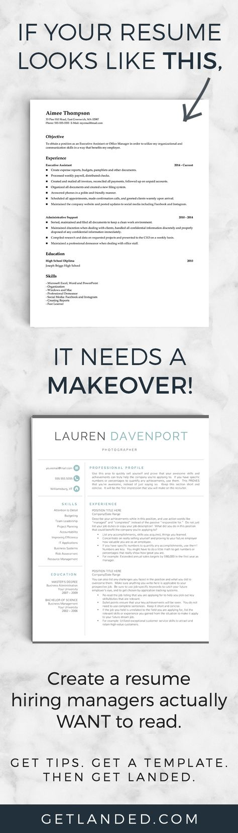 14 best images about Resumes on Pinterest Resume tips, Resume