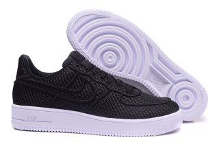 afda22ae3876 Mens Nike Air Force 1 07 LV8 Crocodile Leather Black Dark Grey 718152 018  Running Shoes