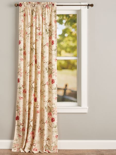 Birdsong Blooms Rod Pocket Curtain Panel Rod Pocket Curtains Rod Pocket Curtain Panels Panel Curtains