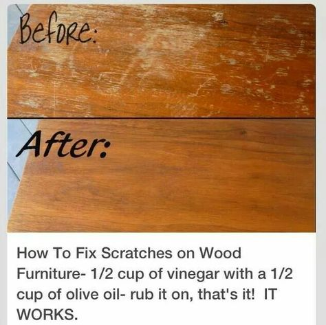 How to remove scratches from wood. I'll have to try that. ^_^…