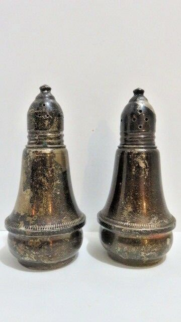 Duchin Sterling Silver Salt and Pepper Weighted Glass Lining