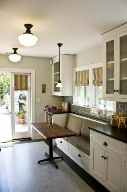 30 Ideas For Kitchen Table Wall Bench Built Ins Dining Room Small Kitchen Layout Kitchen Seating