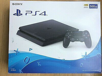 Brand New Sony Playstation 4 Slim 500gb Ps4 Jet Black Ps4 Gaming Video With Images Playstation 4 Playstation Sony Playstation