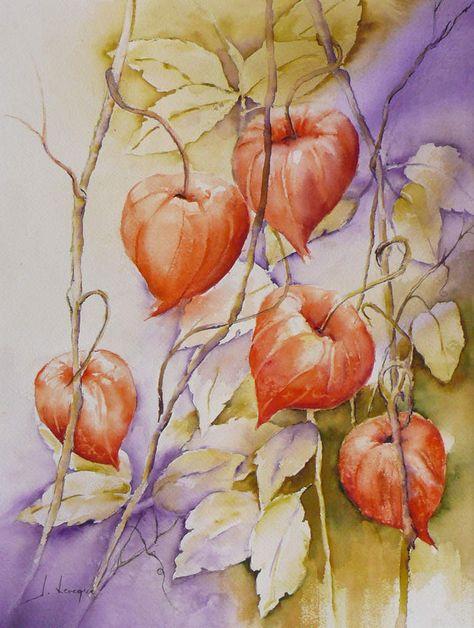 Aquarelle De Josiane Leveque Peinture Fleurs Art De La Peinture