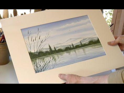 Aquarelle Maison Au Bord De L Eau Yvon Carlo Paysages De