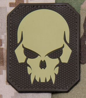Patch 3D Skull PVC M Velcro Large