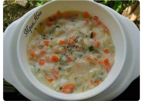 Resep Mpasi 12m White Soup Oleh Almaidah Resep Resep Makanan Bayi Makanan Pendamping Makanan Bayi