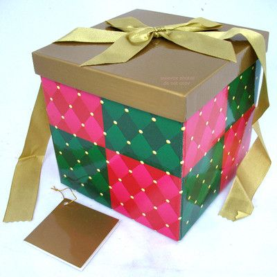 New Avon Square Gift Wrap Box Folding Collapseable with Lid Ribbon Note Card $14.98  http://stores.ebay.com/Tropical-FEEL