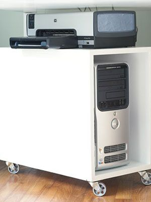 Do-It-Yourself CPU Cabinet. I will put a door with a lock on this to make it toddler proof.