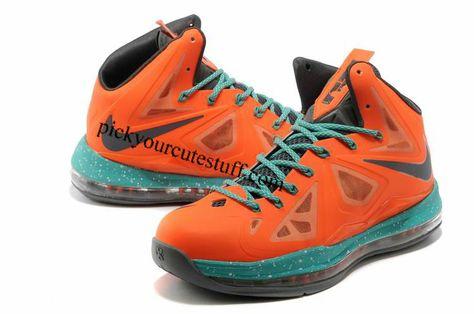 finest selection 516aa 2b1c4 Nike Zoom LeBron 10 Reddish Orange Dim Grey Light Sea Green 541100 008   85.99