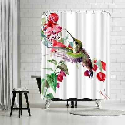 East Urban Home Suren Nersisyan Hummingbird 1 Copy Single Shower Curtain Wayfair In 2020 East Urban Home Hookless Shower Curtain Cotton Shower Curtain