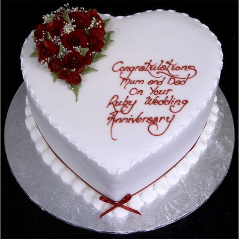 simple and easy anniversary cakes Anniversary Cake Ideas *Change for silver*