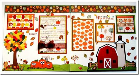 super cute fall layout (using Cricut's Country Life) | Passionately Artistic