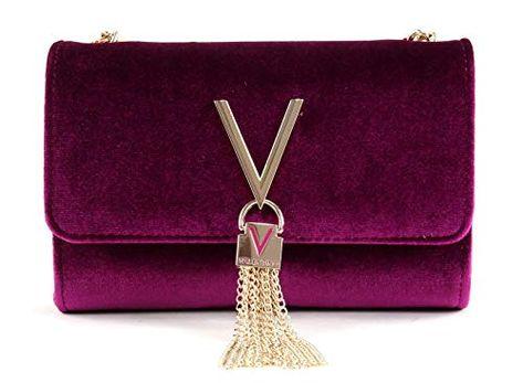 b16fbd3a551d4 schöne Valentino Damen Umhängetasche in Trendfarbe Violet   modernstyle Valentinobag elegant