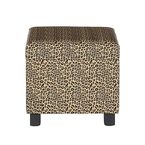 Leopard Print Faux Leather Storage Ottoman On Sale At Shophq Com
