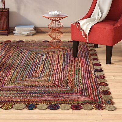 World Menagerie Bowen Handmade Flatweave Cotton Sisal Red Beige Area Rug Wayfair Ca Rugs