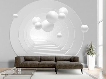 Wall Mural Black And White 3d Tunnel Bedroom False Ceiling