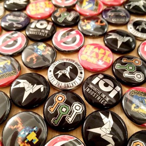 Ready player one inspired pin badge buttons. Two collections