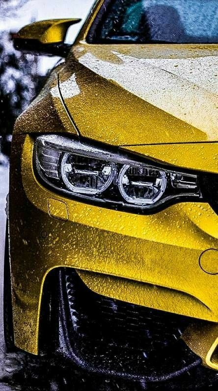 Iphone Xs Lock Screen Hd Bilder 4k Gelb Auto In 2020 Bmw Wallpapers Bmw M4 Car Wallpapers