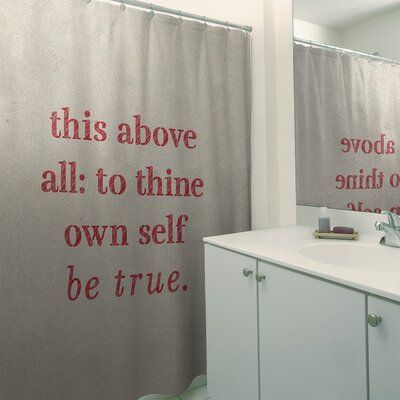 East Urban Home Handwritten Shakespeare Inspirational Quote Shower