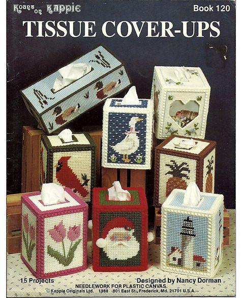 Tissue Cover-Ups Plastic Canvas Pattern Kappie Originals Book 120.