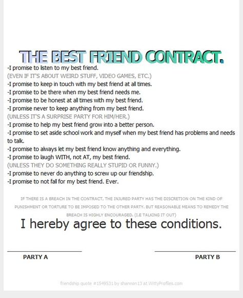 The best friend contract me and love just me pinterest the best friend contract me and love just me pinterest friendship poetry quotes and relationships thecheapjerseys Images