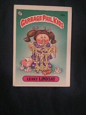 1985 Topps Garbage Pail Kids Series 1 45a Leaky Lindsay Kids Series Garbage Pail Kids Garbage Pail Kids Cards