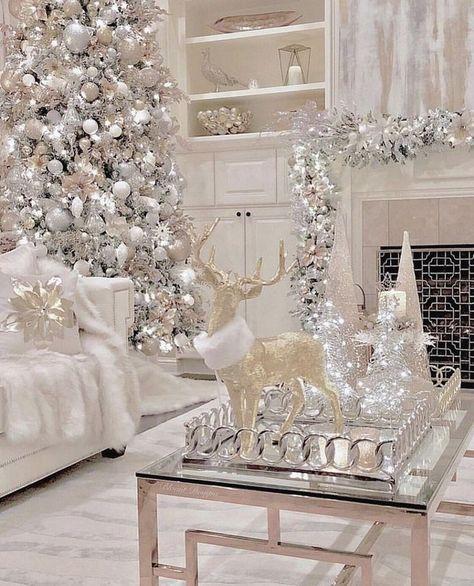 20 Elegant White Winter Wonderland Themed Decoration Ideas - lmolnar