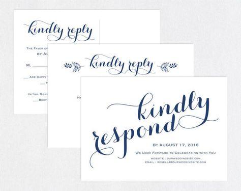Navy Blue Rsvp Postcards Templates Wedding Rsvp Cards Wedding