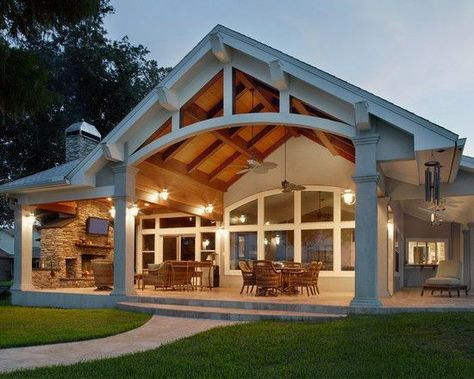 Top 60 Patio Roof Ideas - Covered Shelter Designs From gazebo creations to reimagined awnings and beyond, discover the top 60 best patio roof ideas. Explore covered shelter designs for your backyard. Patio Design, House, Shelter Design, Covered Patio Design, Building A Porch, Porch Design, House Exterior