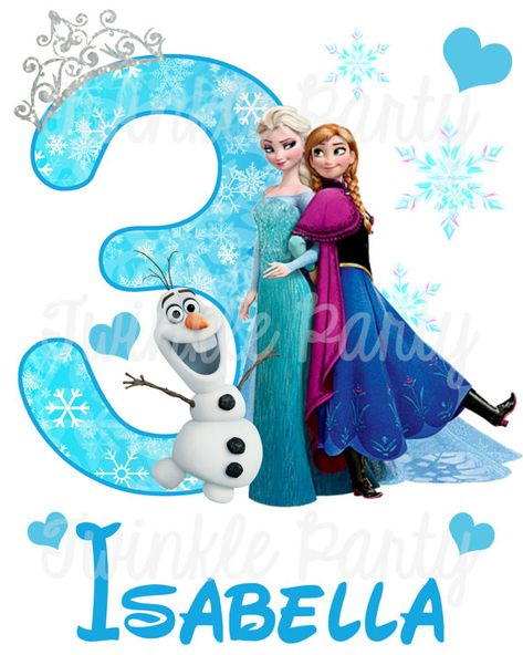 Personalized Frozen Digital Image Elsa Anna Olaf for T