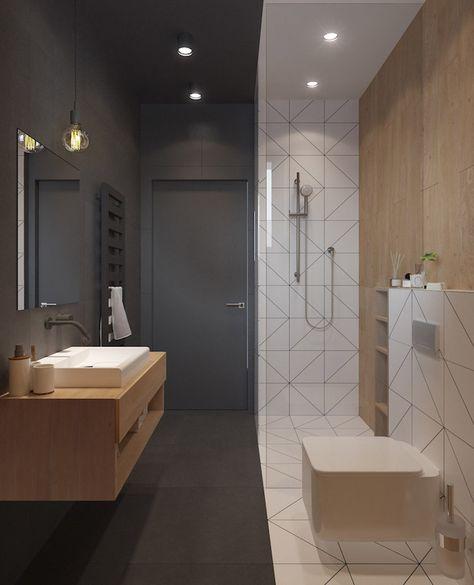 Salle de bain beige et gris – pierre deviendra sable | Salle ...