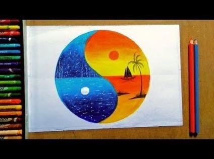 Drawing Unique Colored Pencils 64 Super Ideas Oil Pastel Paintings Moonlight Painting Oil Pastel Colours