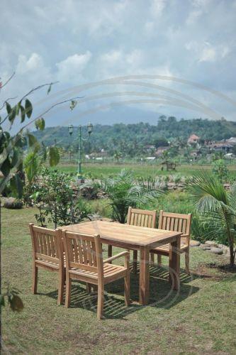 Teak Tuintafel 160x90cm 4 Beaufort Stoelen Outdoor Furniture