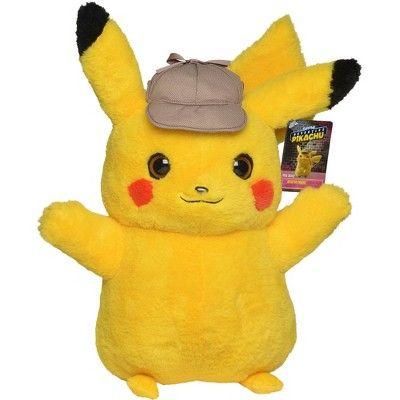Pokemon Detective Pikachu 16 Plush Real Scale Pikachu Pokemon Plush Pikachu Plush