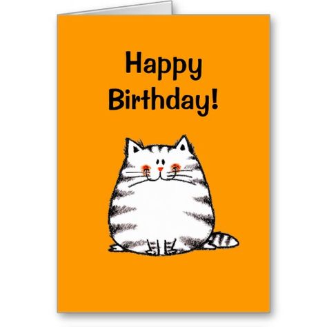 Happy birthday! (cat) greeting cards